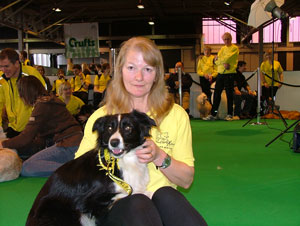 Diane at Crufts