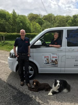 Debbie & Dave Forster with their dogs and van