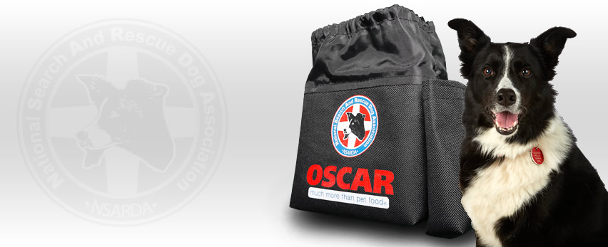 OSCAR NSARDA Treat Pouch in aid of the National Search and Rescue Dog Association